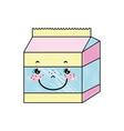 doodle kawaii happy milk box nutrition vector image vector image