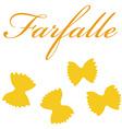 Farfalle pasta vector image vector image