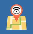 Finding free Wi-Fi zone concept Flat design vector image