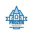 frozen product abstract label for freezing vector image vector image