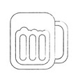 glass beer drink liquor beverage icon vector image
