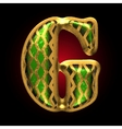 golden and green letter g vector image vector image