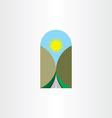highway landscape icon design element vector image vector image