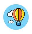 hot air baloon on sky vector image
