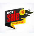 hot sale banner design template this weekend vector image vector image