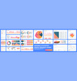 infographic dashboard finance data analytic vector image