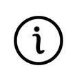 information icon help symbol vector image vector image