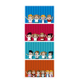 kids students cartoons cards vector image