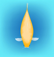 Koi fish category orange ogon vector image vector image