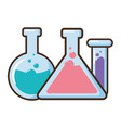 laboratory chemical glassware set vector image vector image