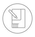 Layout of the house line icon vector image