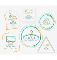 Minimal line design shopping stamps vector image vector image