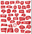 modern sale sticker and tag red collection vector image vector image