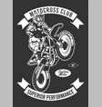 motorcross club vector image