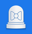 paper cut motion sensor icon isolated on blue vector image vector image