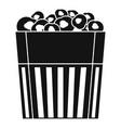 paper popcorn box icon simple style vector image vector image