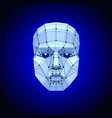 polygonal human face on dark futuristic concept vector image vector image