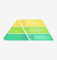 Pyramid chart with four elements with numbers and