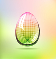 Rainbow glossy checkered egg vector image vector image