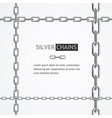 realistic 3d detailed chain frame steel vector image vector image