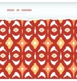 Red and gold ikat geometric frame horizontal torn vector image vector image