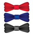 red blue black bow ties vector image