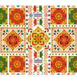 retro seamless pattern tile folk floral art vector image