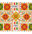 retro seamless pattern tile of folk floral art vector image vector image