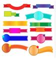 Ribbon halftone vector image vector image
