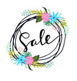 sale hand drawn word vector image vector image