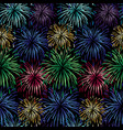 seamless fireworks background pattern vector image vector image