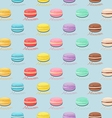 Seamless pattern with colorful macaroons Macarons vector image