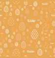 seamless pattern with ornaments for easter vector image