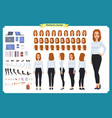 set of businesswoman character design vector image