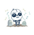 skeleton in kawaii style vector image