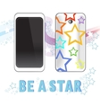 Smartphone stars vector image