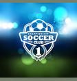 soccer football badge logo design template vector image vector image