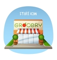 Store icon Grocery shop market building Cartoon vector image vector image