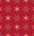 stylized vintage gold star vector image vector image