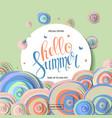 summer sale banner design vector image