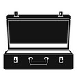 travel case icon simple style vector image vector image
