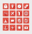 Travel icons flat vector image vector image