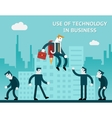 Use of technology in business vector image vector image