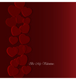 Valentines greeting card with translucent hearts vector image vector image