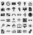 video format icons set simple style vector image vector image