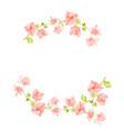 watercolor pink bougainvillea half circle wreath vector image vector image