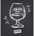 whiskey glass hand drawn scotch vector image