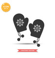 winter gloves icon simple flat style vector image vector image