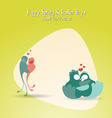 with spring and love bird vector image vector image