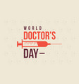 world doctor day style background collection vector image vector image